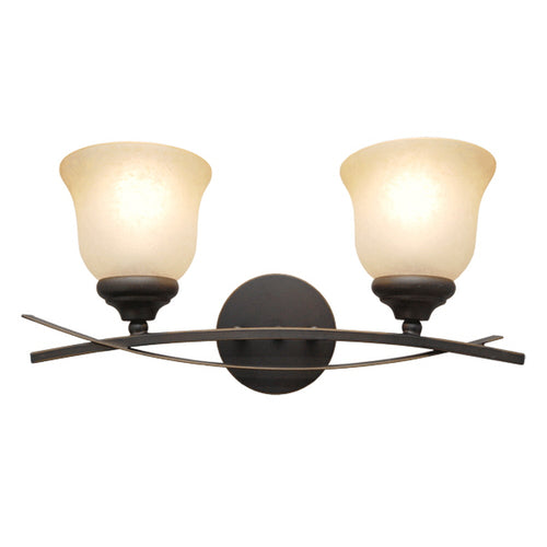 La Tulip Collection Vanity Floral Shape Wall Light, 2-Tulip