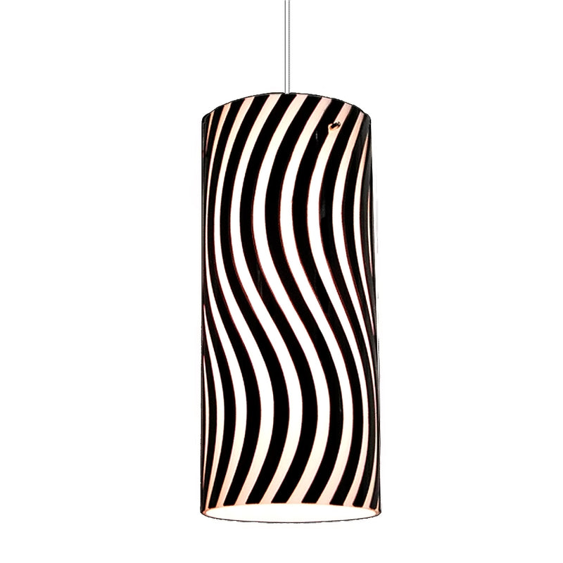 Serena Collection Black Wave Pattern Hanging Pendant Lamp