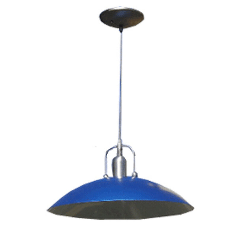 Las Elite Collection One Light Blue Shade Finish Hanging Pendant Light