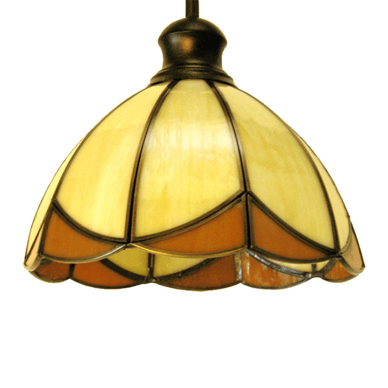 Las Elite Collection One Light Tiffany Hanging Pendant Light