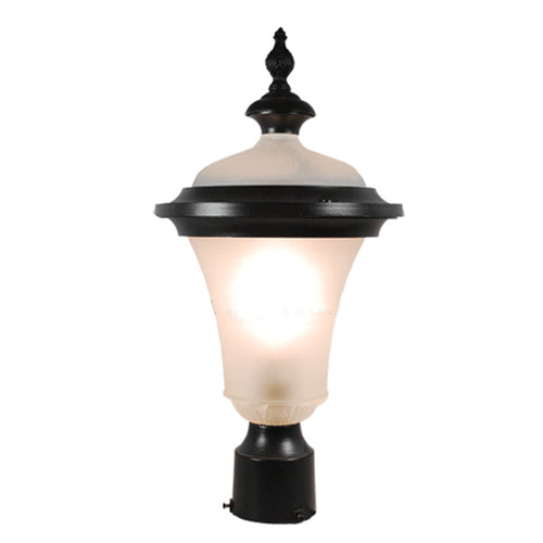 Vermont Collection Post Exterior Lantern Light with Frost Glass
