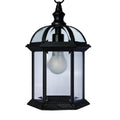 eTopLighting Contemporary Collection Exterior Outdoor Hanging Pendant Lantern Light with Beveled Clear Glass and Warm White 2700K 8W LED Bulb, APL1407