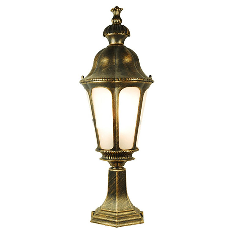 ETOPLIGHTING Le Bien Collection Oil Rubbed Golden Black Outdoor Lantern Post Light Fixture with Frosted Glass, Garden Light, Decoration Light, SRE1380