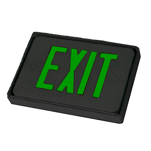 Low Level Sign itself Exit Sign - Green Lettering