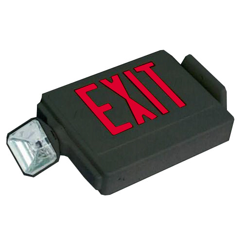 Side Mounting Exit Sign & Emergency Light Combo Light - Red Letters