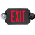 LED Exit Emergency Combo - Red Letter & Black Body