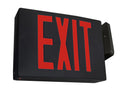 Modern Style LED Exit Sign, Red Lettering