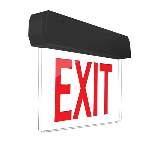 Easy Snap Series Edgelite Exit Sign - Black
