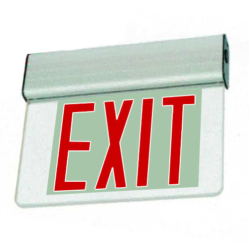 Edgelite Economy Aluminum Extrusion Series Surface Exit Sign - Red Letters