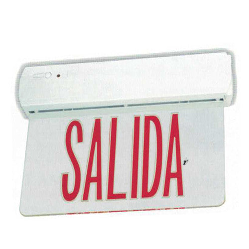 Edgelite Collection Recessed LED Exit Salida Sign - Red Salida Letters