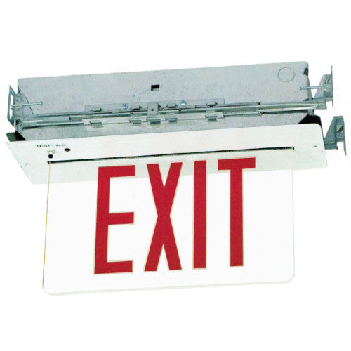 Edgelite Collection  LED Recessed Exit Sign - White Recessed Surface