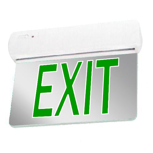 Easy Snap Series Edgelite Exit Sign - Mirror & Green Letters
