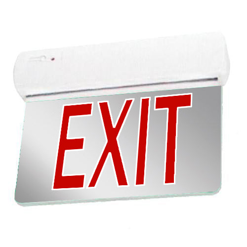 Easy Snap Series Edgelite Exit Sign - Mirror & Red Letters