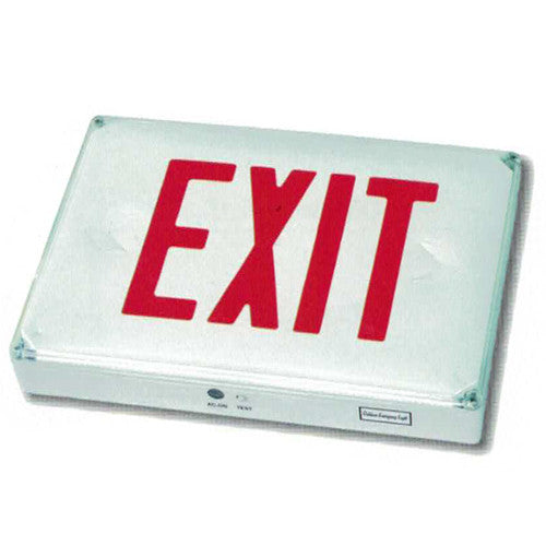 Outdoor High Capacity Exit Sign - Red Lettering