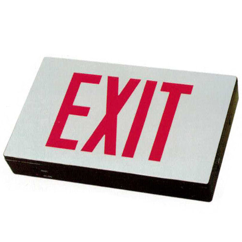 Compact High Capacity Exit Sign - Red Lettering