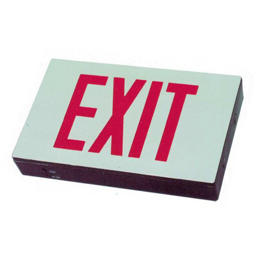 Die Casting Standard Exit Sign - Red Lettering