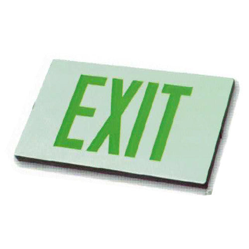 02_Low Level Exit Sign - Green Lettering