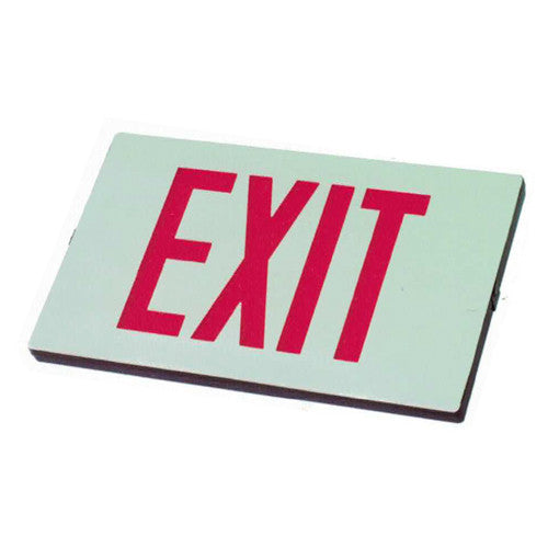 Die Casting Standard Single Exit Sign - Red Lettering