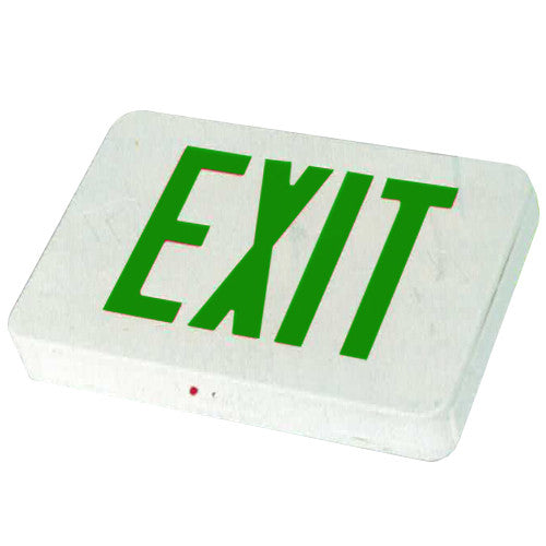 Compact High Capacity Remote Capability Exit Sign Green Lettering