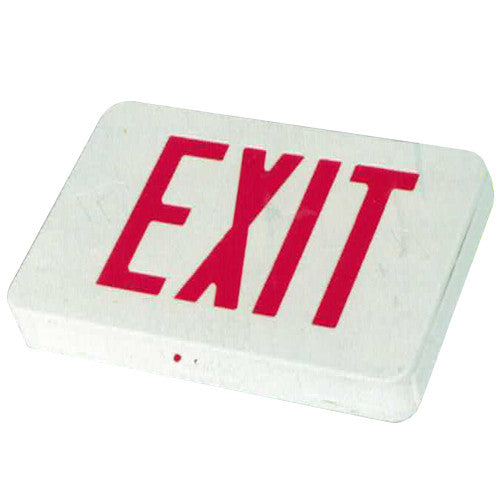 Compact High Capacity Remote Capability Exit Sign RED Lettering, Rounded