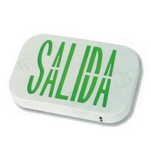Salida/Exit Sign Green Lettering