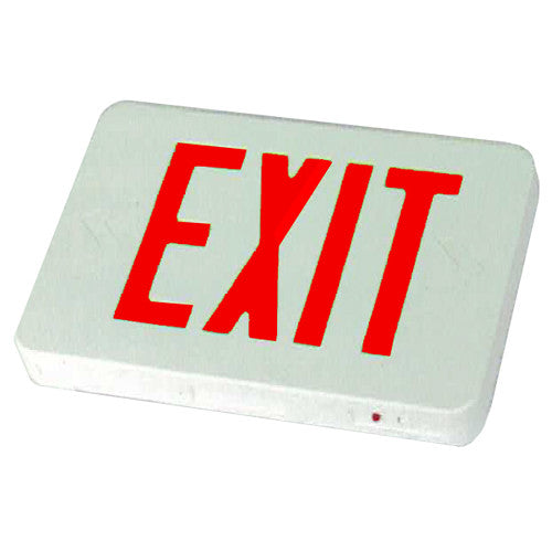 Standard Exit Sign, Red Lettering