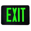 Modern Style LED Exit Sign, Green Lettering