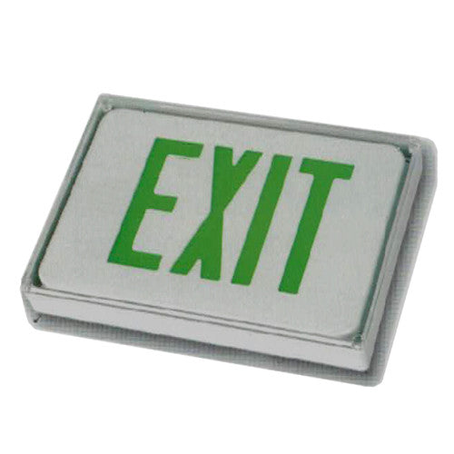 Low Level Exit Sign, MS series, 6 Volt Green lettering, Remote Connect