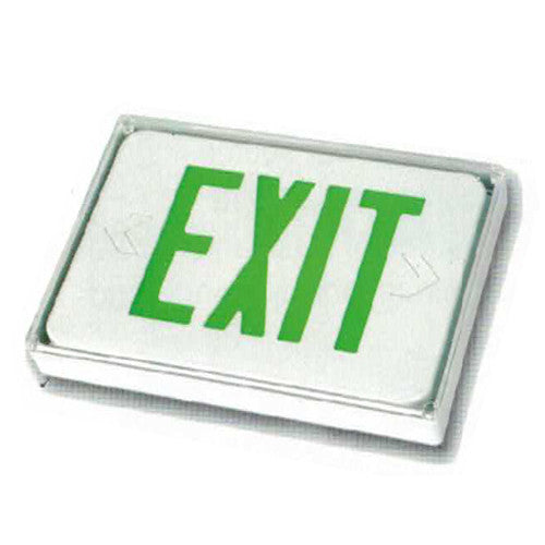 Low Level Exit Sign, Green lettering, Remote Connect, Sign itself