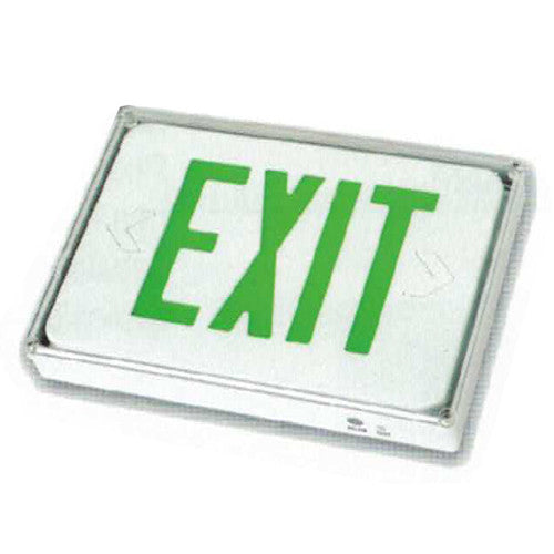 Low Level Exit Sign, White Finish, Remote connect