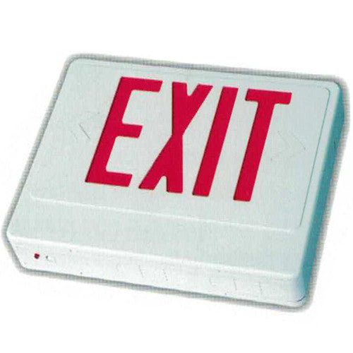 Standard High Capacity Exit Sign - RED Letters