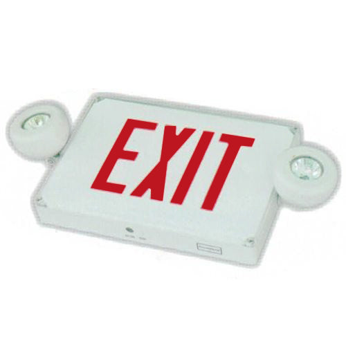 Outdoor Combo Exit Sign MR16, Red Letters