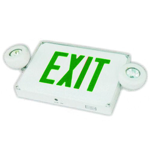 Outdoor Combo Exit Sign MR16, Green Letters