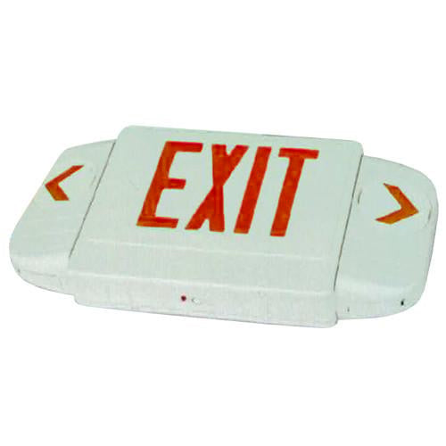 All Directional Series Exit Sign, Red Lettering