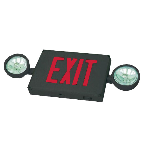 Outdoor Combo Exit Sign PAR36 - Red Letters & Black Body