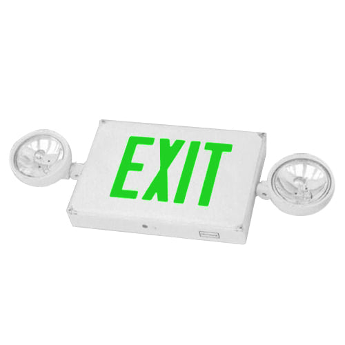 Outdoor Combo Exit Sign PAR36 - Green Letters