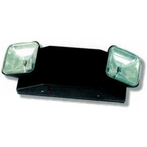 High Capacity Emergency Lighting, AUTO Head Clear Lights 25W Series, Black Finish