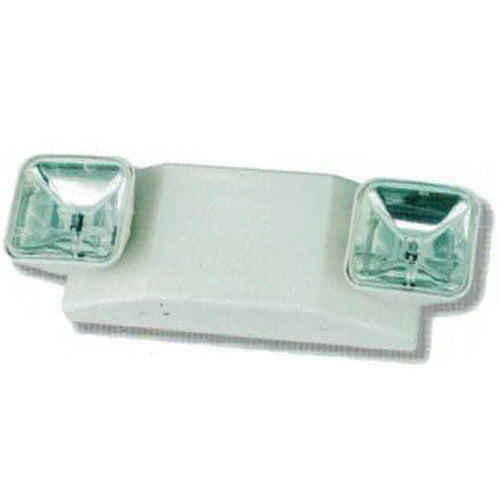 High Capacity Emergency Lighting, AUTO Head Clear Lights 25W Series, White Finish