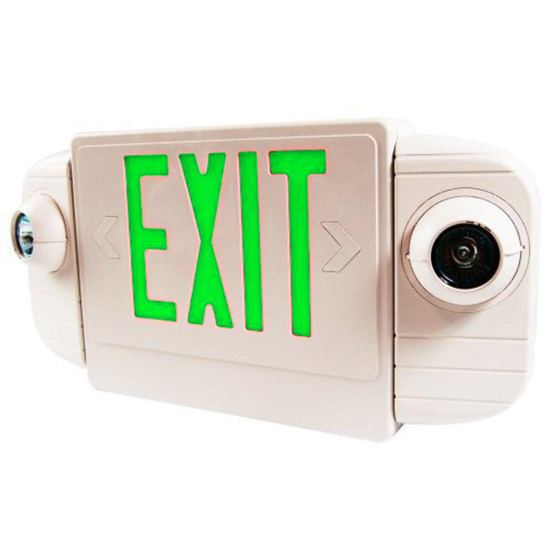 LED Deluxe & Architecture Series Emergency Light Combo - Green Letters