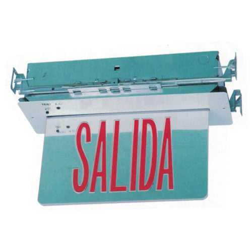 Salida/Exit Sign Recessed Series Red Lettering
