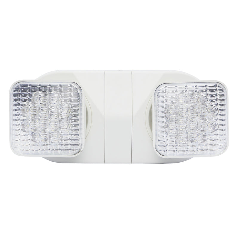 LED Economy Series Emergency Unit with Square Lights - White Short Body