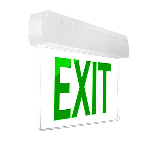 Easy Snap Series Edgelite Exit Sign - Green
