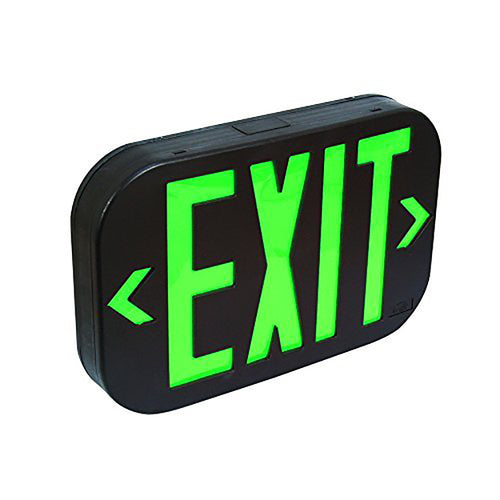 Black Body Green Letter SMD LED Exit Sign