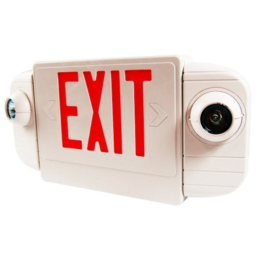 LED Exit Sign Emergency Light Combo-Red Letter
