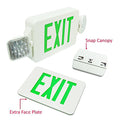 LED Exit Emergency Combo - Green Letter