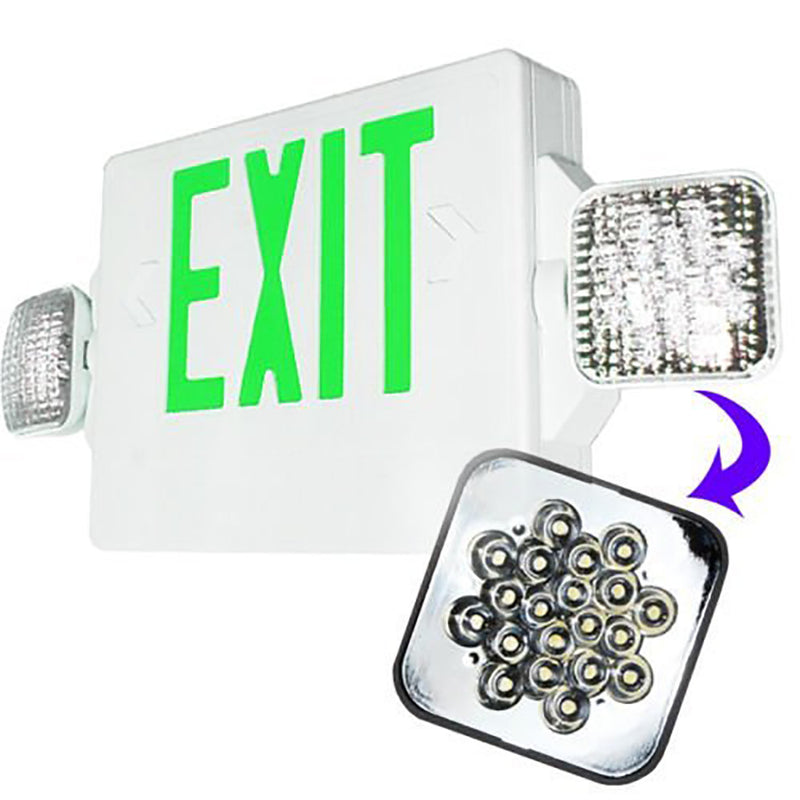 LED Green Exit Emergency Combo/ Green Letter