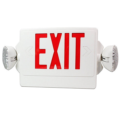 01_LED Exit Emergency Combo - Red Letter