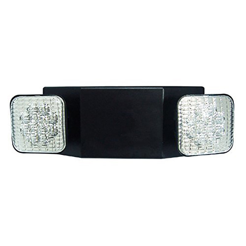 LED Emergency Light-Black Square Head