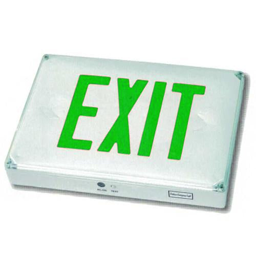 Outdoor High Capacity Exit Sign - Green Lettering