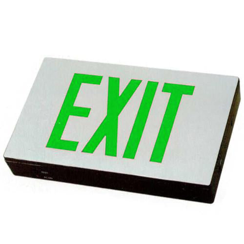 Compact High Capacity Exit Sign - Green Lettering